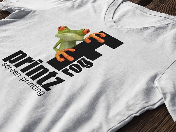 Frog Printz Screen Printing Enterprise, AL logo T-Shirt used for marketing