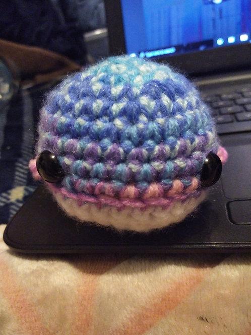 Crochet whale multicolor