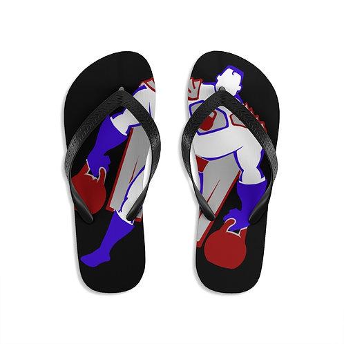 Kettlebell hero 2 Unisex Flip-Flops