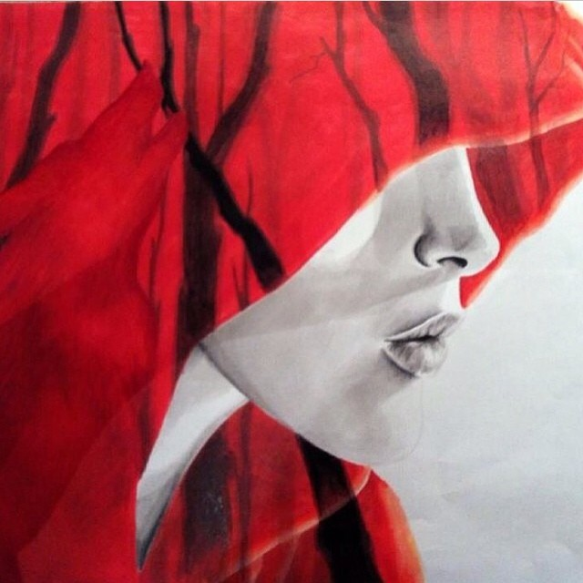 #art #lhdart #red #redridinghood #draw #drawing #drawings #drawingbook #drawingwomen #fairytale #wol