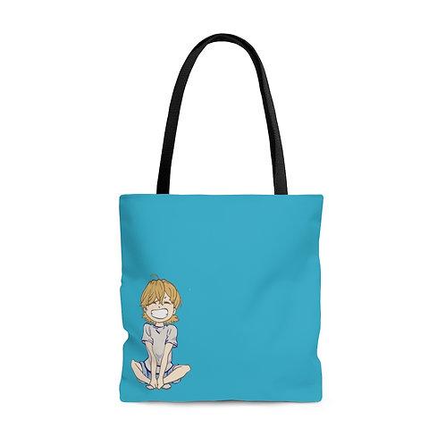 Aqua RAFFman AOP Tote Bag