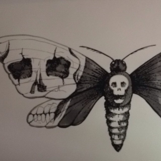 #art #LHDart #textas #balckandwhite #markers #ink #inkdrawing #draw #drawing #drawinginsects #moth #