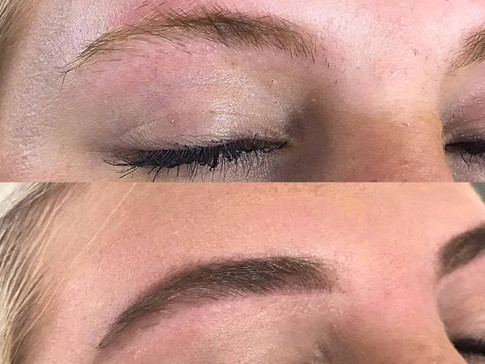 Brow Scultpting Before & After