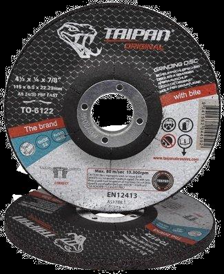 "Taipan Inox Grinding Disc 115mm (4.5"") x 6.5mm"