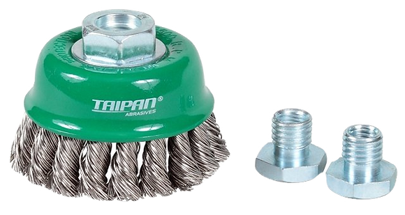 Taipan Cup Brush Twist-Knot Standard 75mm Multi-Thread Stainless Steel