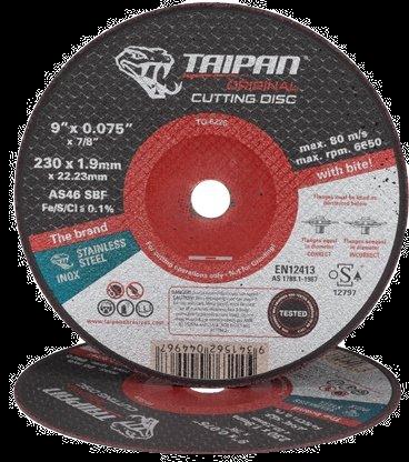 """Taipan Inox Cutting Disc 230mm (9"""") x 1.9mm"""