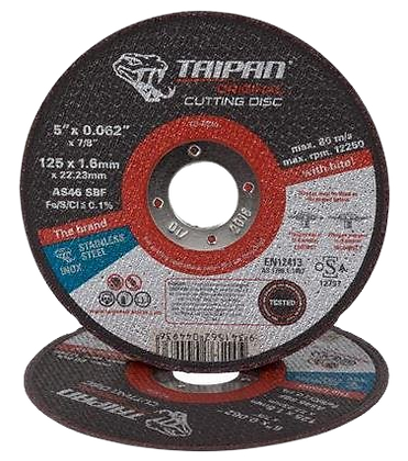 "Taipan Inox Cutting Disc 125mm (5"") x 1.6mm"