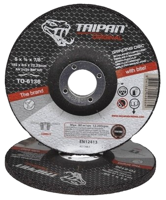 "Taipan HD Grinding Disc 125mm (5"") x 6.5mm"