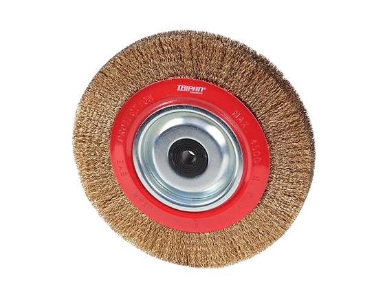 "Taipan Pedestal Wheel Brush 200m (8"") x 25mm"