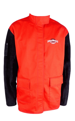 ARCOSAFE Cotton Welding Jacket with Leather Sleeves