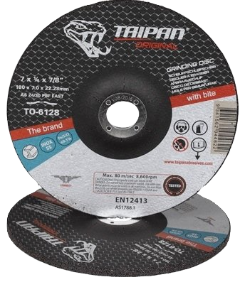 "Taipan Inox Grinding Disc 180mm (7"") x 7.0mm"