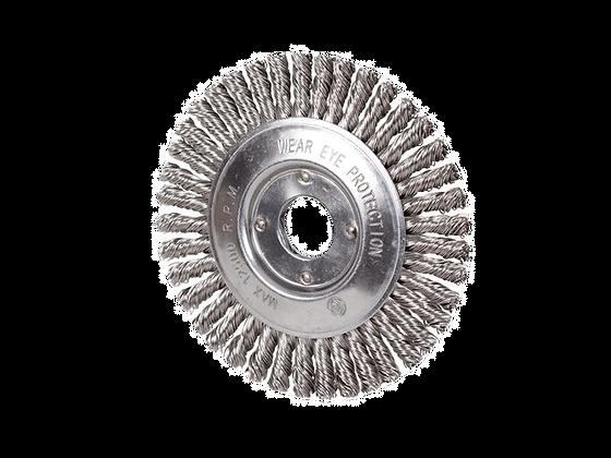 Taipan Pipeline Twist-Knot Wheel Brush Mild Steel 125mm x 6mm