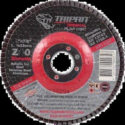 "Taipan Flap Disc 180mm (7"") Z120 Grit"