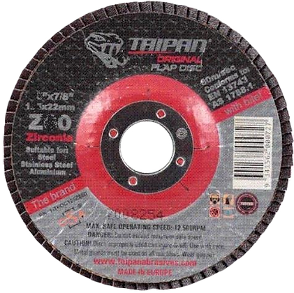 "Taipan Flap Disc 100mm (4"") Z40 Grit"