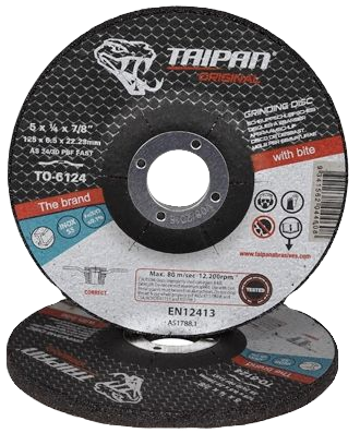 "Taipan Inox Grinding Disc 125mm (5"") x 6.5mm"