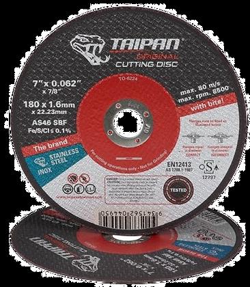 """Taipan Inox Cutting Disc 180mm (7"""") x 1.6mm"""