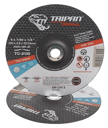 "Taipan Inox Cutting Disc 230mm (9"") x 2.8mm Depressed Centre"