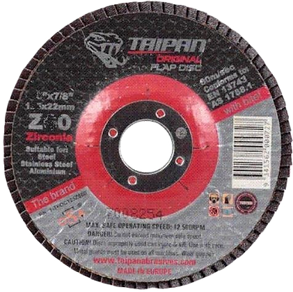 "Taipan Flap Disc 115mm (4.5"") Z40 Grit"