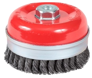 Taipan Cup Brush Twist-Knot with Skirt 125mm M14x2 Mild Steel