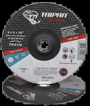 "Taipan Inox Grinding Disc 230mm (9"") x 7.0mm"