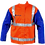 Thumbnail: Weldclass FR Hi-Vis Jacket w/ Leather Sleeves & Harness Flap