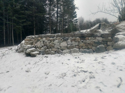 Retaining wall with step stile