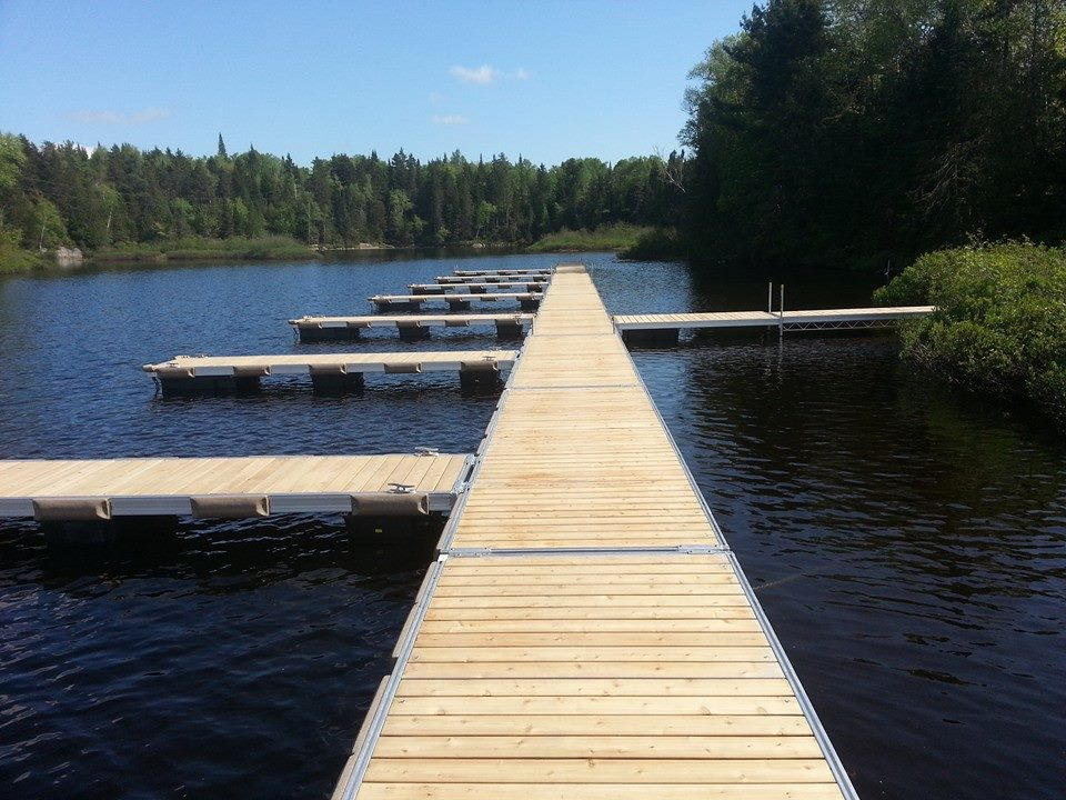 cedar moorings with floating docks