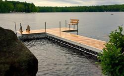 Cedar T with bench & ladder