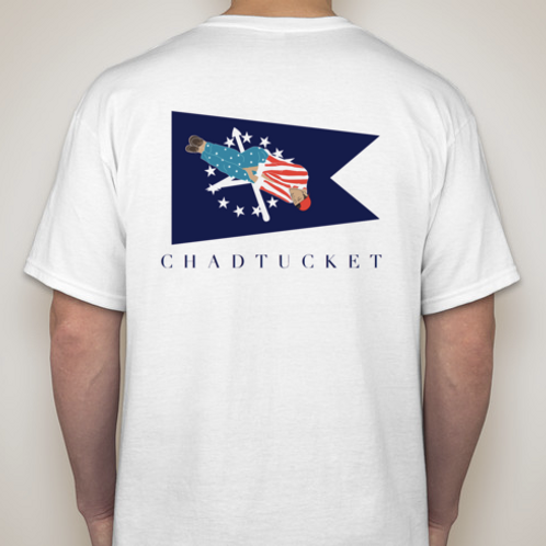 Chadtucket BURGEE Tee (White and Light Blue Options)