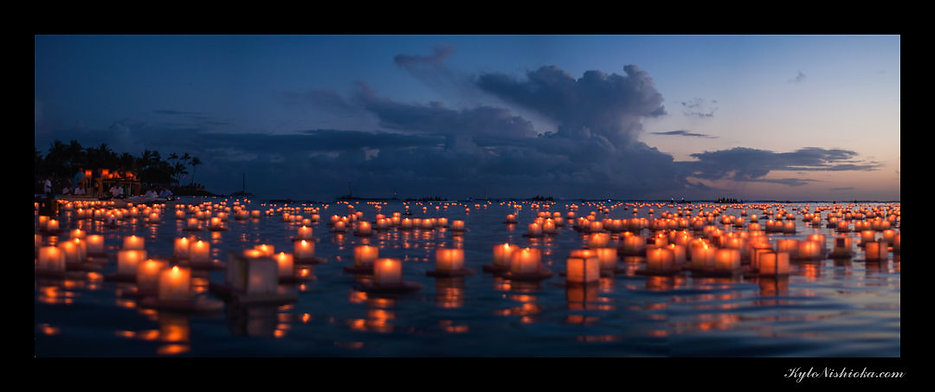 Lantern Floating Festival by Kyle Nishio