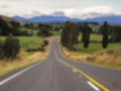 Long roads in New Zealand