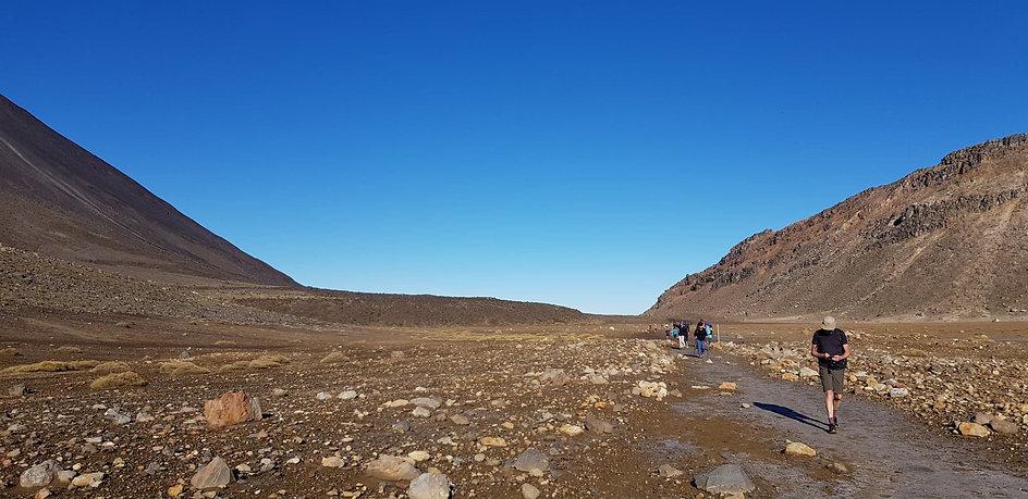 The Tongariro Crossing.