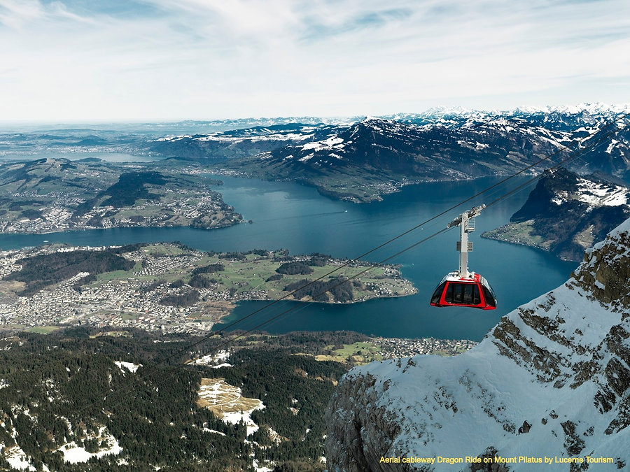 Aerial cableway Dragon Ride on Mount Pilatus by Lucerne Tourism