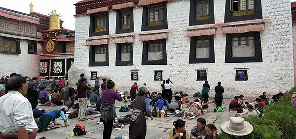 Pilgrims at Jokhang Temple, Tibet