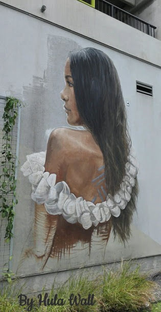 Hawaiin Girl, Kakaako Wall Mural