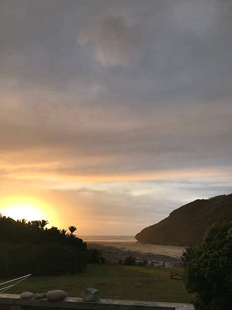 Sunset at Heaphy Hut