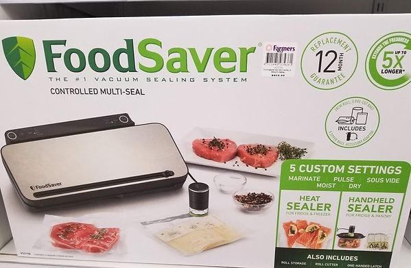 Vacuum sealer for preparing hiking meals