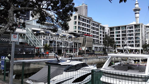 Viaduct Harbour -finish of the coast to coast walk Auckland