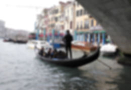 The Grand Canal Venice by gondola