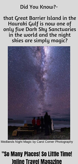 DARK SKY SANCTUARY, Great Barrier Island