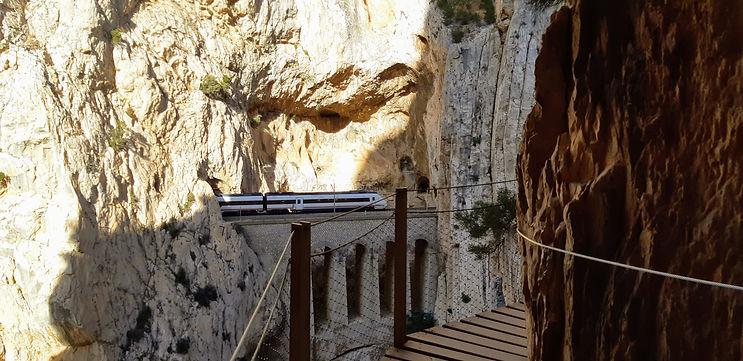 gorge on the Caminito del Rey walk in Malaga Spain