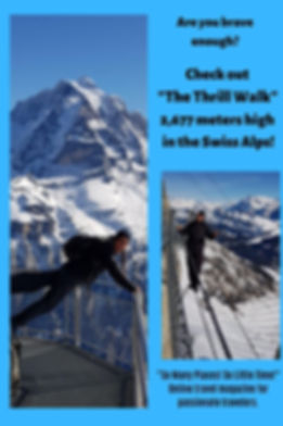Are you brave enough? The Thrill Walk in the Swiss Alps