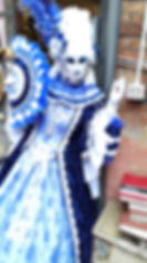 Venice Carnival masked costumes