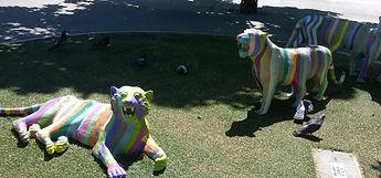 San Jose tiger sculptures