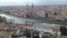 Travel Verona, Italy.  View from Castel San Pedro, Verona.