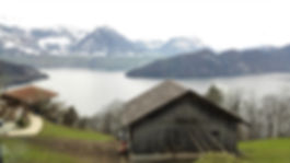 Views over Lake Lucerne from the cogwheel train-Mount Rigi
