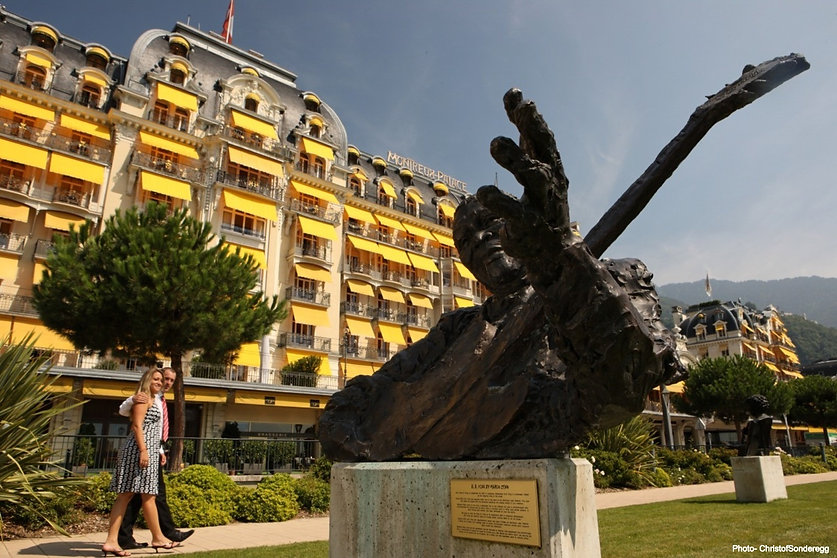 Musician sculptures in Montreux