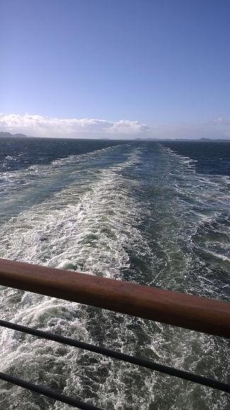 Heading home on Alaskan cruise