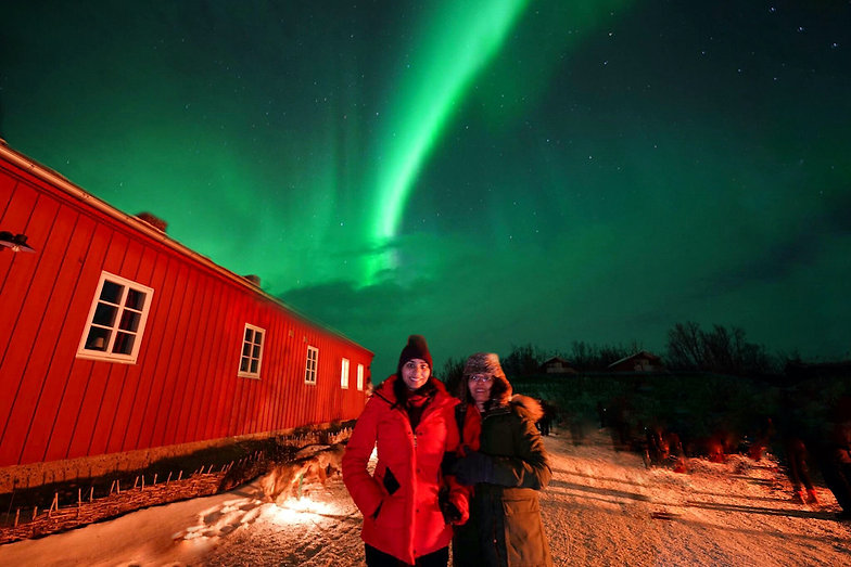 northern lights in Arctic Norway