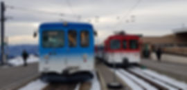 The two cogwheel trains- Mount Rigi